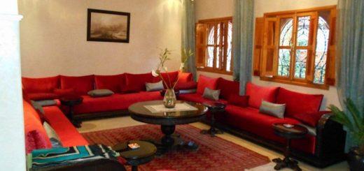 Décoration d\'une petite chambre de villa à Marrakech